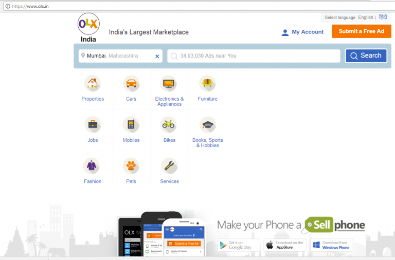 olx home page