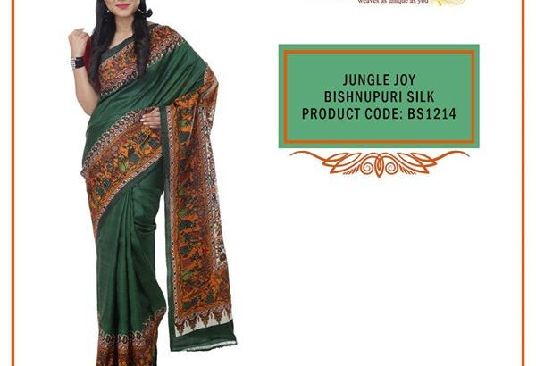 Buy Exclusive Design Bishnupuri Handloom Silk Saree At Best Price