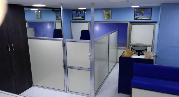 Very well furnished Office available to be given on Rent in Malad West