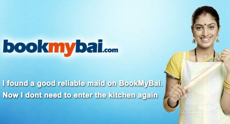 bookmybai Services Housemaids,Cooking,Baby Sitters,Elderly Care
