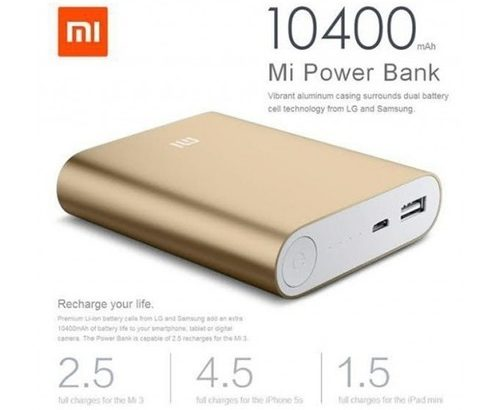 Buy Xiaomi Mi Power Bank 10400mAh Online.