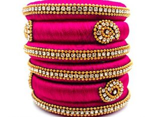 Buy Silk thread bangles in Online.