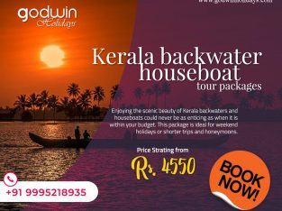 Kerala Backwater tour packages at affordable rates-Godwin Holidays