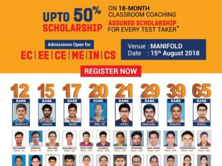 GATE 2020 Aspirants Scholarship Test | MANIFOLD INSTITUTE