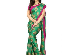 Adorning Green Colored Casual Silk Saree