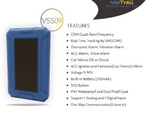 Real-Time GPS Tracker VSS09 for Vehicles