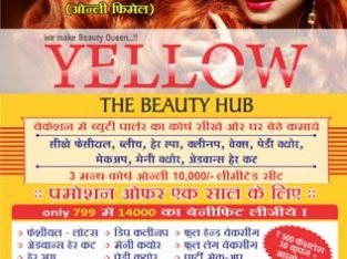 Best Nail art Design at Yellow Beauty parlour and Salon in VIP – Surat