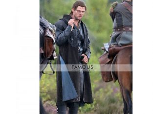 Chris Hemsworth Black Trench Coat The Huntsman 2016