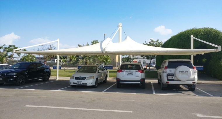 Parking shades | Tensile shades | Fabric shades | Supply & Installation all over UAE | Al Fares Intl. Tents