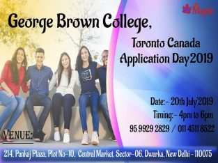George Brown College, Toronto Canada Application Day – 20th July'19