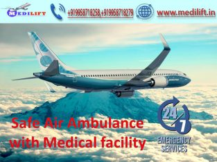 Medical Support Charter Air Ambulance in Kolkata at Low Fare