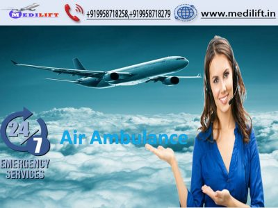 High-Caring Medical Team Commercial Air Ambulance in Ranchi