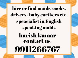 hire maid cook babycaretaker etc.