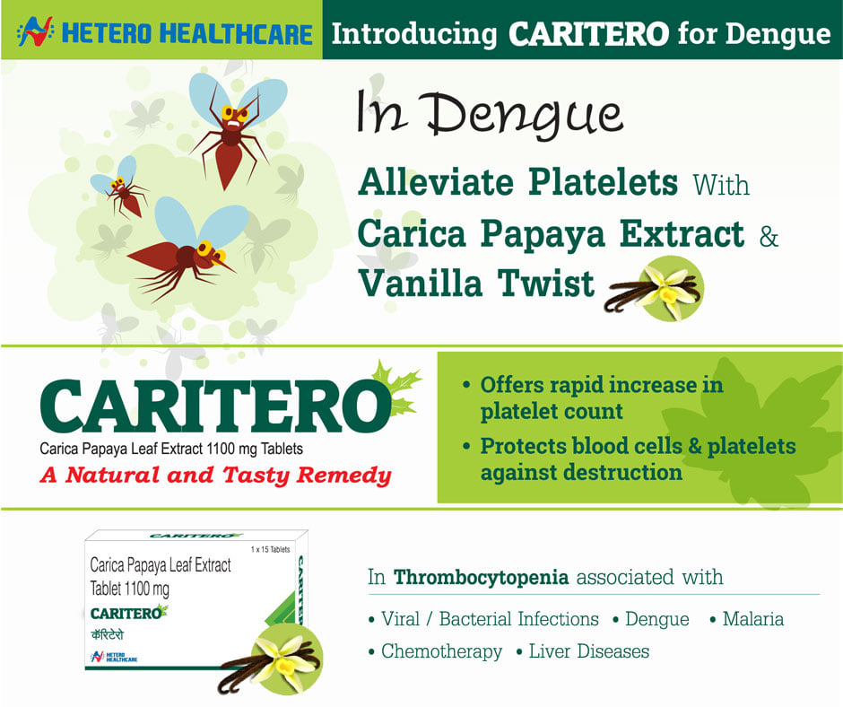 Caritero Dengue Fever Tablet at Hetero Healthcare