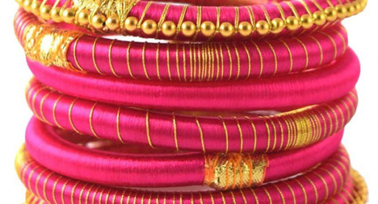 Handicraft bangles and earrings